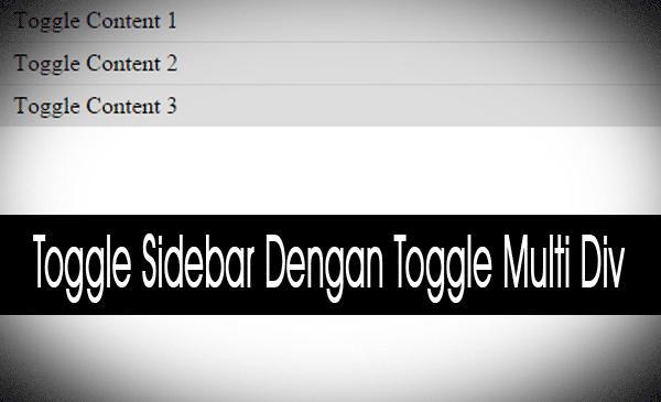 Toggle Widget Sidebar Dengan Toggle Multi Div