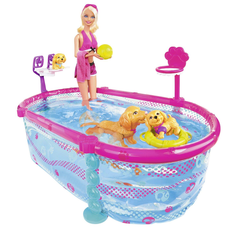 Autistic Toys For Children: Barbie Puppy Swim School Pool