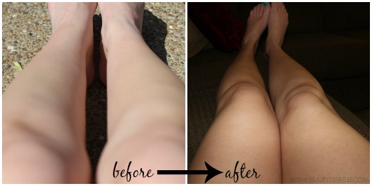 St. Tropez Bronzing Mousse before and after