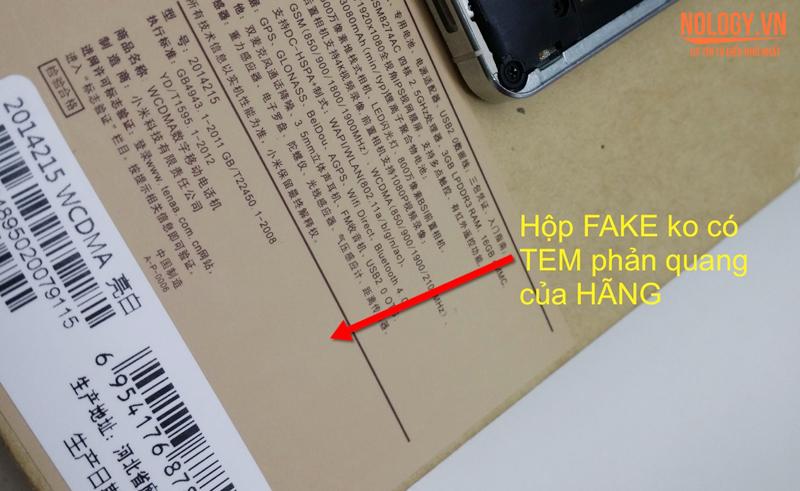 Hướng dẫn phân biệt Xiaomi Mi4 xịn và nhái