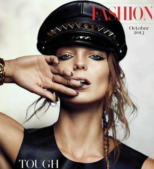 Daria Werbowy by Chris Nicholls Vogue UK October 2014