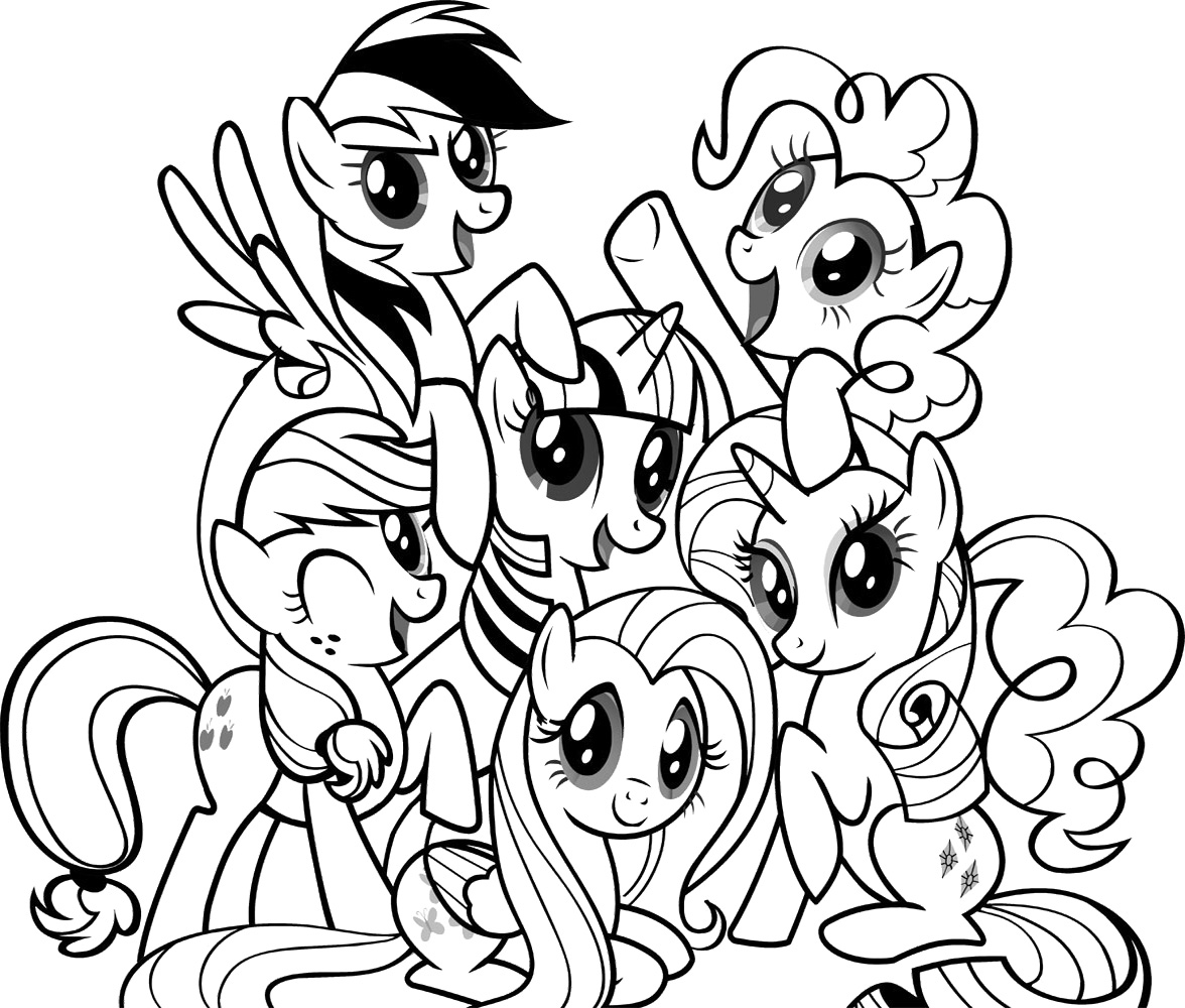 Coloring My Little Pony