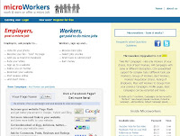 MicorWorkers.com home page