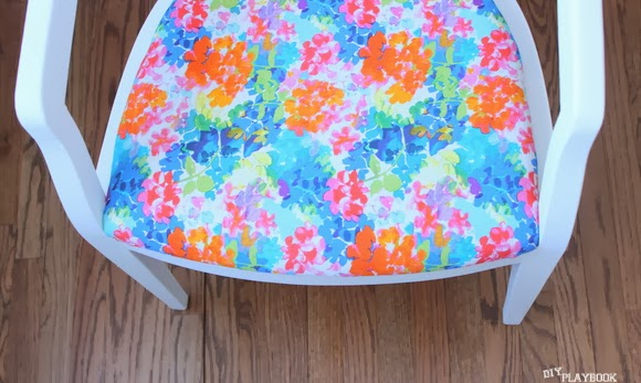Be careful about the chunks: Reupholstered Chair DIY using Milk Paint | DIY Playbook