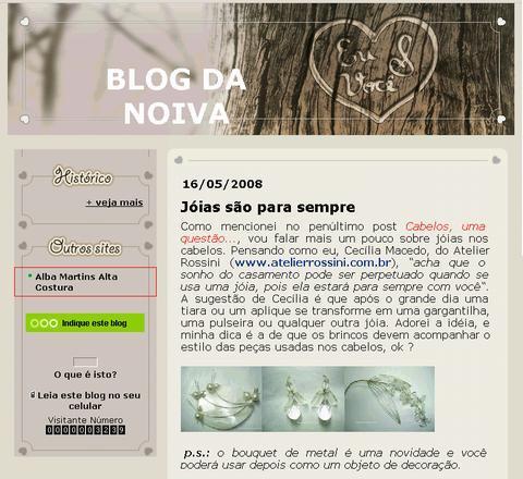 Visite Blog da Noiva
