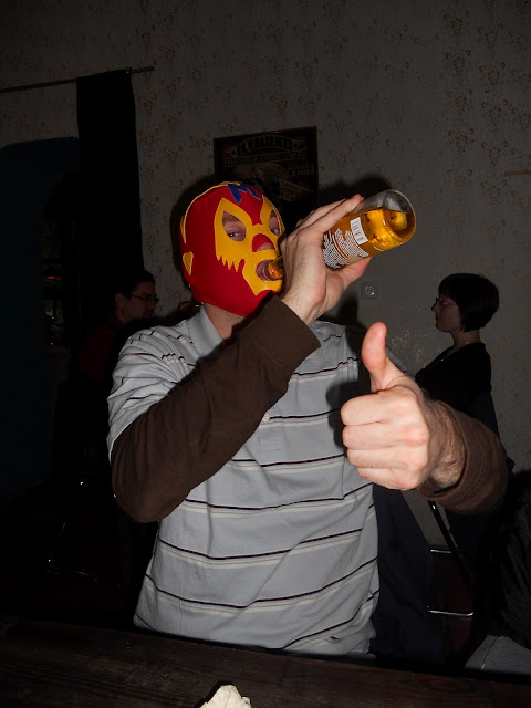 Mexican Wrestling Mask & Corona