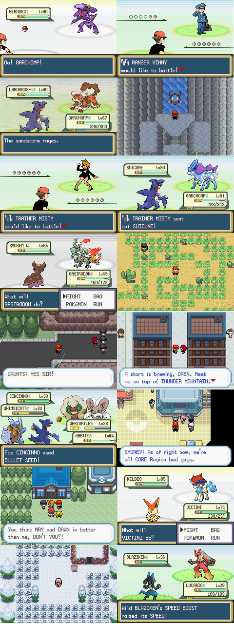 pokemon dark rising 2 pokemon list
