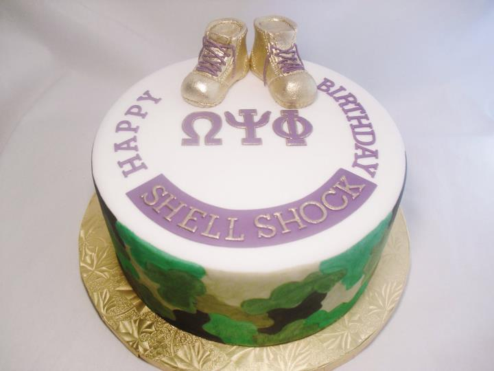 Made Fresh Daily Omega Psi Phi Army Officer Cake