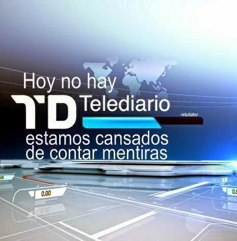 Hoy no hay Telediario, plante de los periodistas de TVE