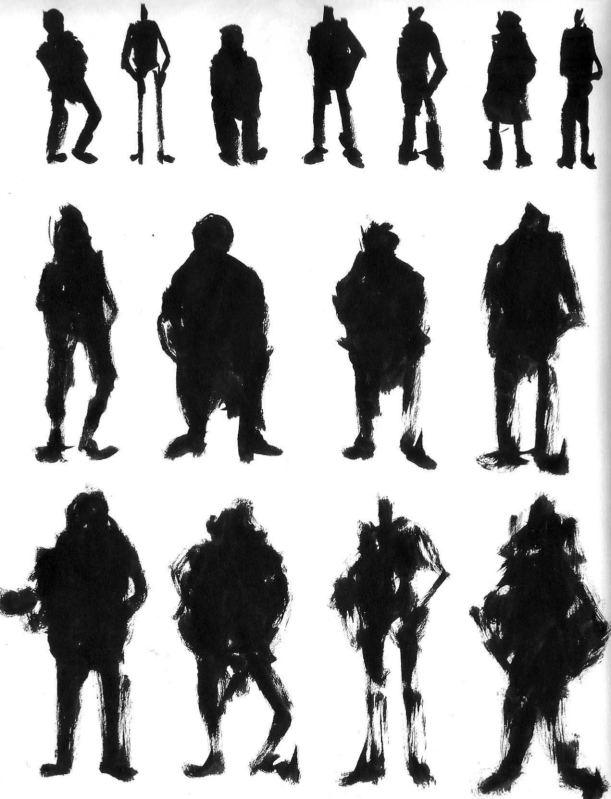Character Design Silhouette : Images about character design silhouette on pinterest