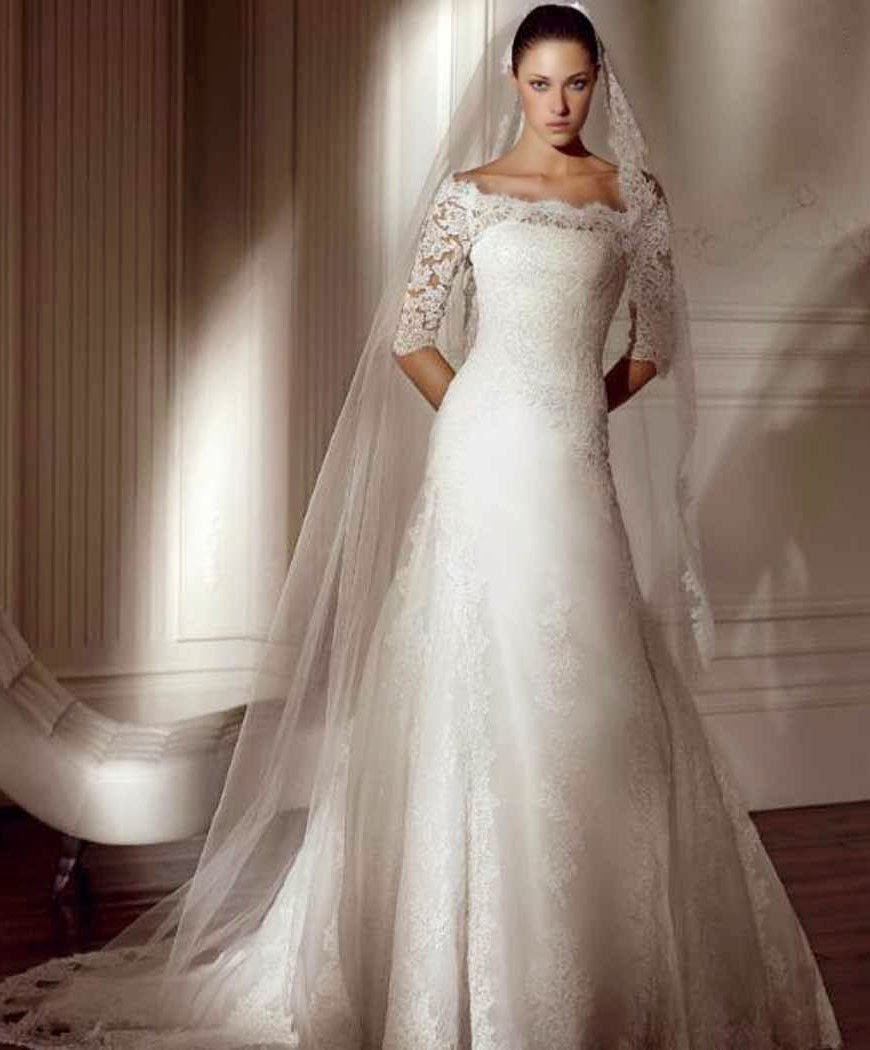 Second Long Wedding Dresses With Sleeves Ideas Photos HD