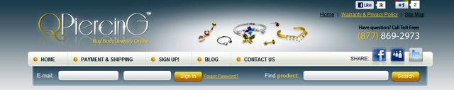 Body Jewelry at QPiercing.com