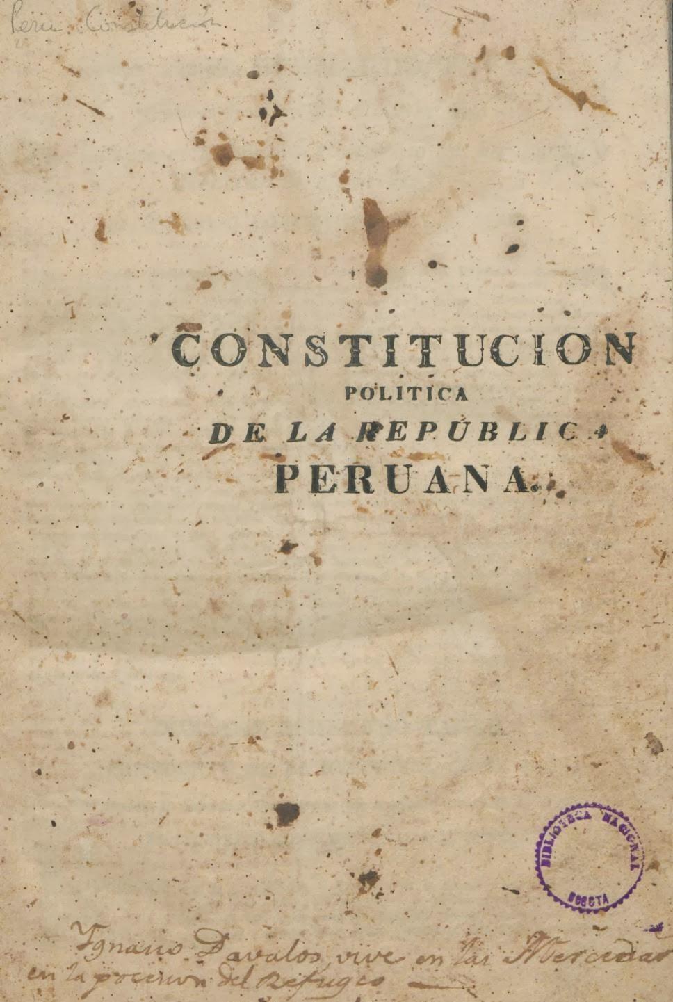 Constitución Política de la República Peruana 1823