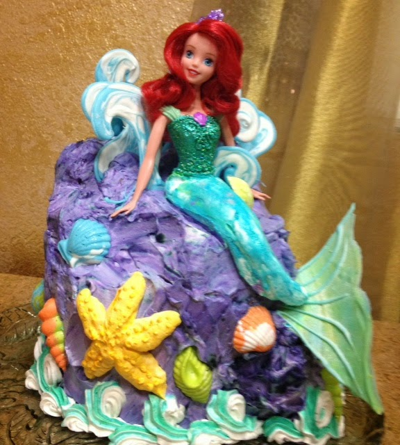 Frosted Art Little Mermaid Barbie Doll Cake Cake Decorating How To