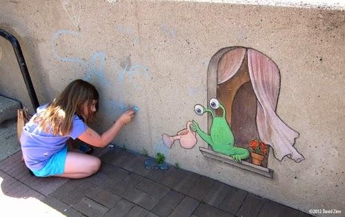 10-Save-Water-Sluggo-Artist-David-Zinn-Chalk-Street-Art-www-designstack-co