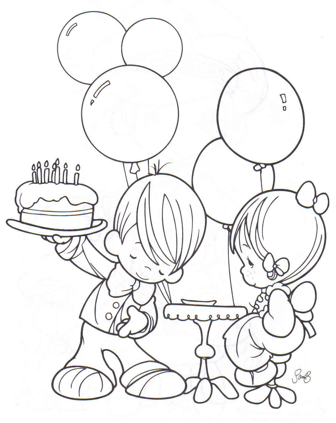 Imagenes De Niños Celebrando Cumpleaños Para Colorear picture gallery