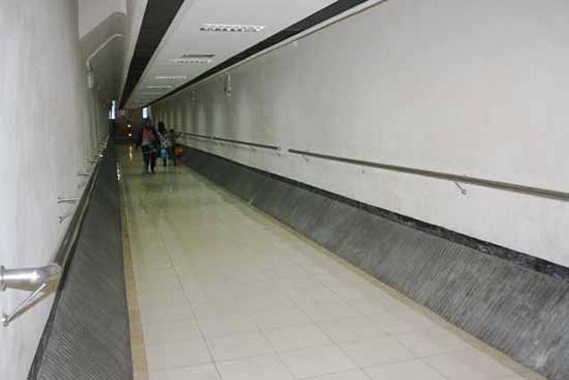 terowongan area parkir simpang lima kediri