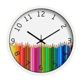 Reloj de l pices de colores relojes de pared - Relojes de pared ...