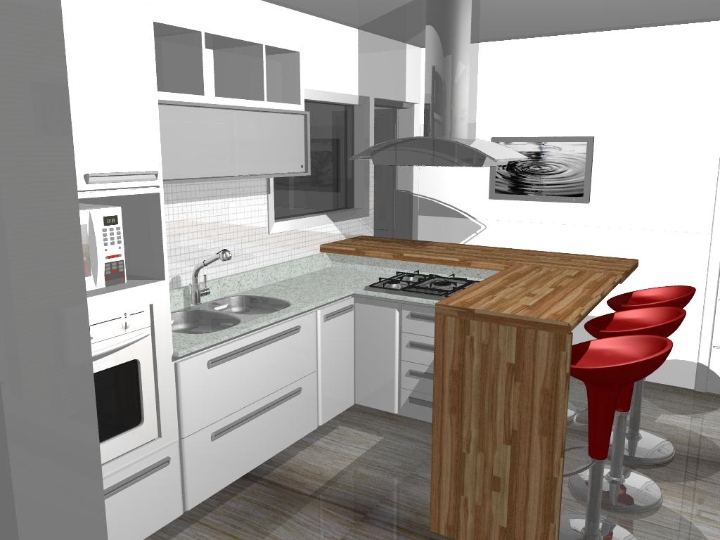 interiores cozinha:01 projeto de decoraçao de apartamento em 3D.jpg #A0352B 1024 768