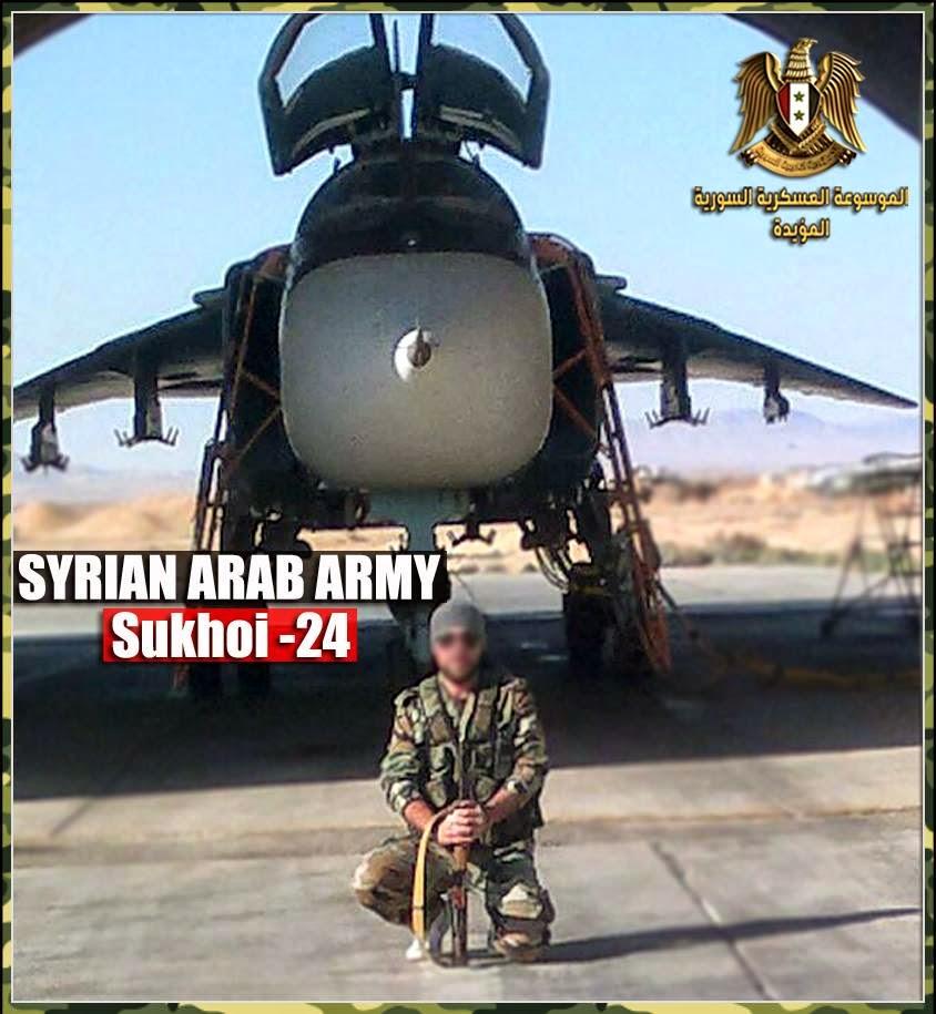 القوات الجويه السوريه .....دورها في الحرب القائمه  SyAAF+Su-24MK