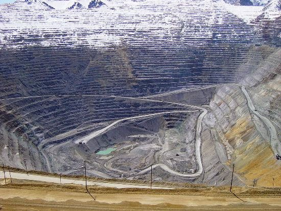 Bingham canyon mine. Utah, Estados Unidos
