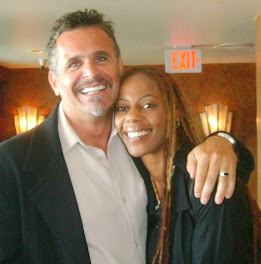 Debra Wilson and her happy hubby..