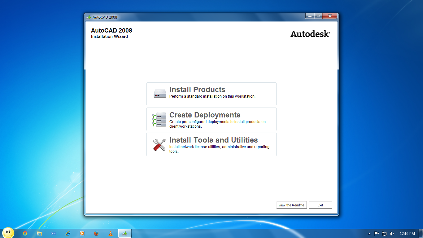installinf AutoCAD product