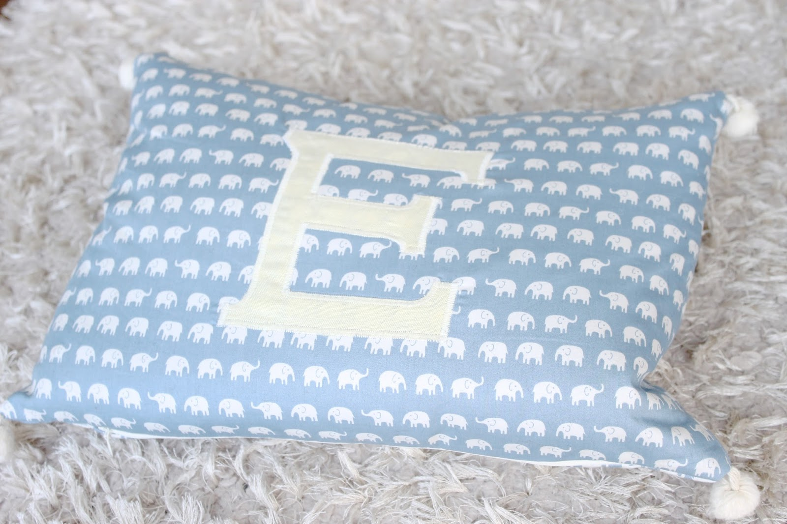 personalised cushion, flossie and bumble, e cushion, elephant cushion
