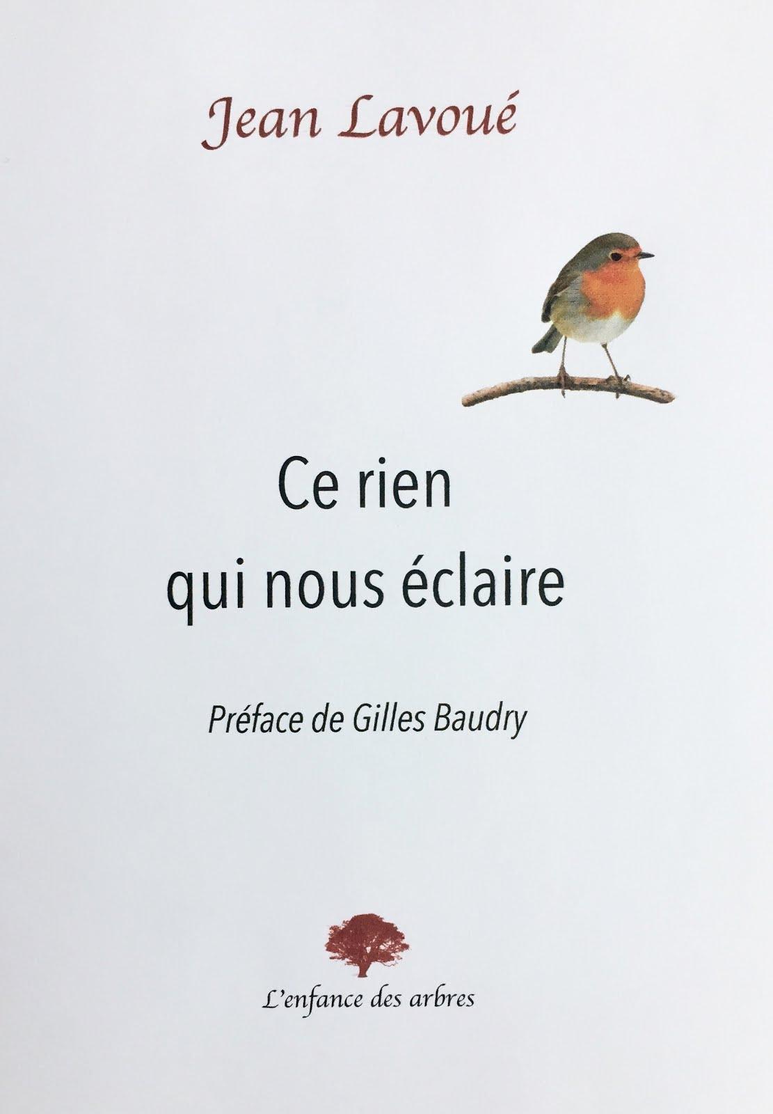 """Recevez dès sa parution début avril 20 """"Ce rien qui nous éclaire"""" avec une préface de Gilles Baudry"""
