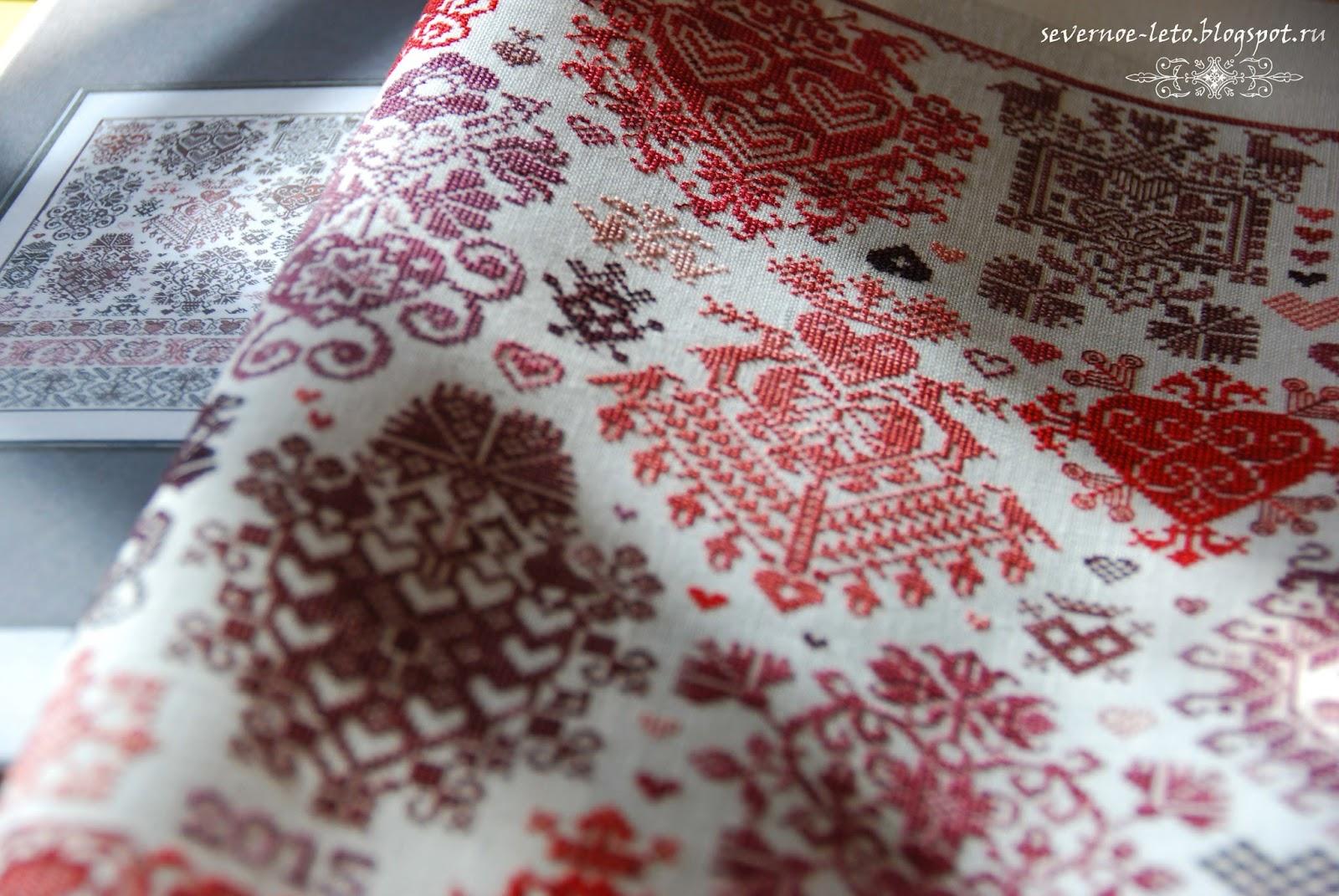схема вышивки крестиком розовый шарик