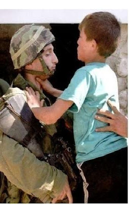 Israeli soldier Palestinian child