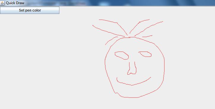 Draw program in Java