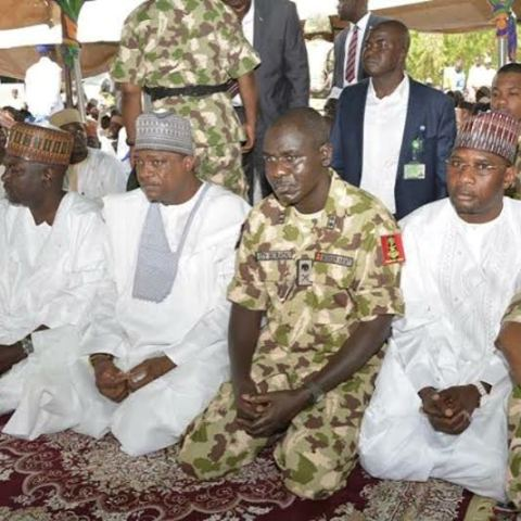 Photo: New Chief of Army Staff observes Sallah prayers in Yobe