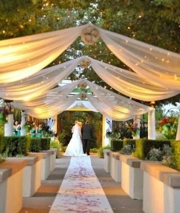 Ideas decoraci n para boda for Tela geotextil para jardines