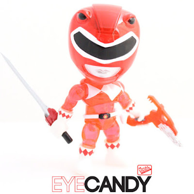 "San Diego Comic-Con 2015 Exclusive Mighty Morphin Power Rangers ""Crystal Edition"" Red Ranger Mini Figure by The Loyal Subjects"