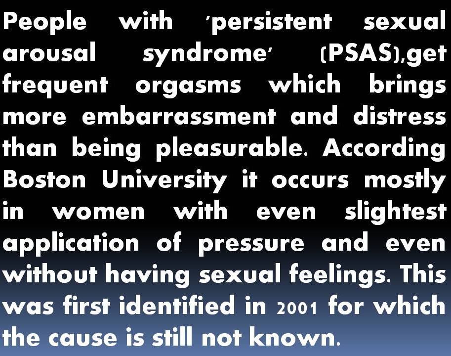 What Is Persistent Sexual Arousal Syndrome