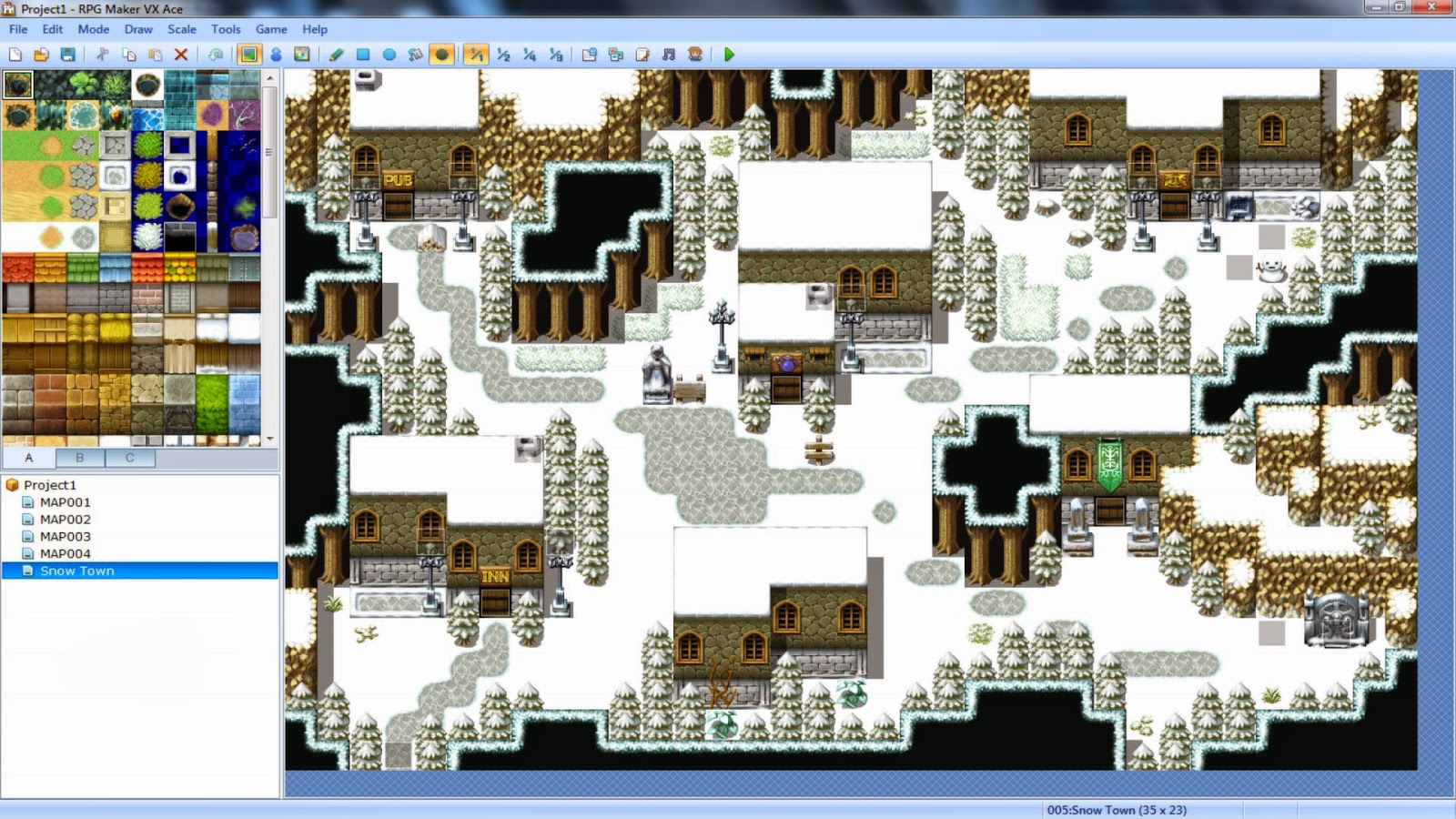 tutorial rpg maker vx ace crear tipos de mapas programa videojuegos. Black Bedroom Furniture Sets. Home Design Ideas