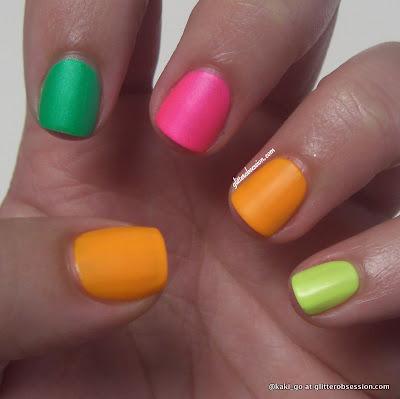 neon mani, neon nails, neon
