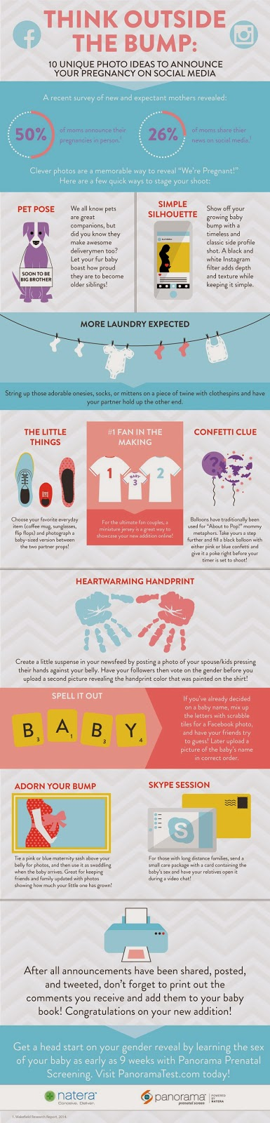 Creative ways to share the gender of your new baby with friends and family