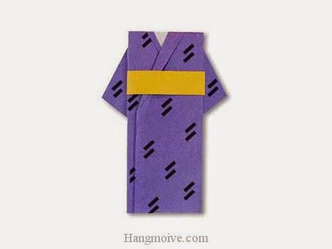 Cách gấp, xếp áo kimono bằng giấy origami - Video hướng dẫn xếp hình quần áo - How to fold a Yukata
