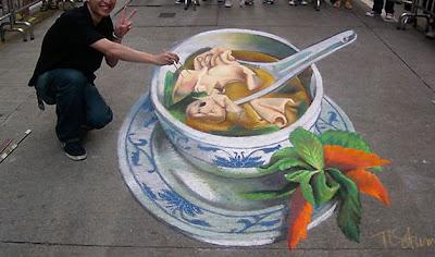 3d pavement art - pavement art tracy lee