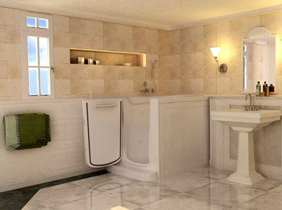 Trend homes luxury walk in bathtubs for everyone for Completely wheelchair accessible luxury house for sale