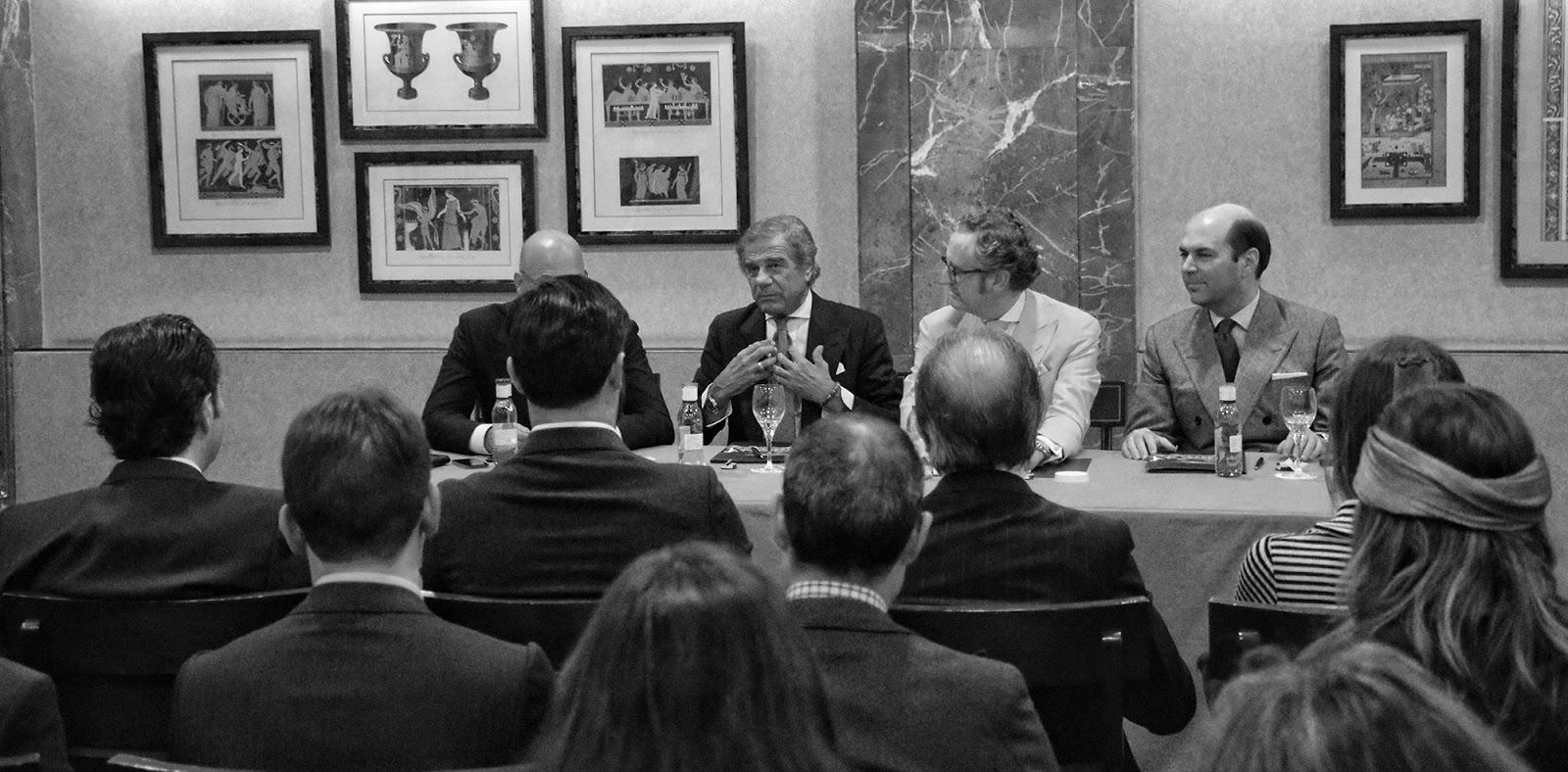 Reunión del Club de El Aristócrata con Lino Ieluzzi.