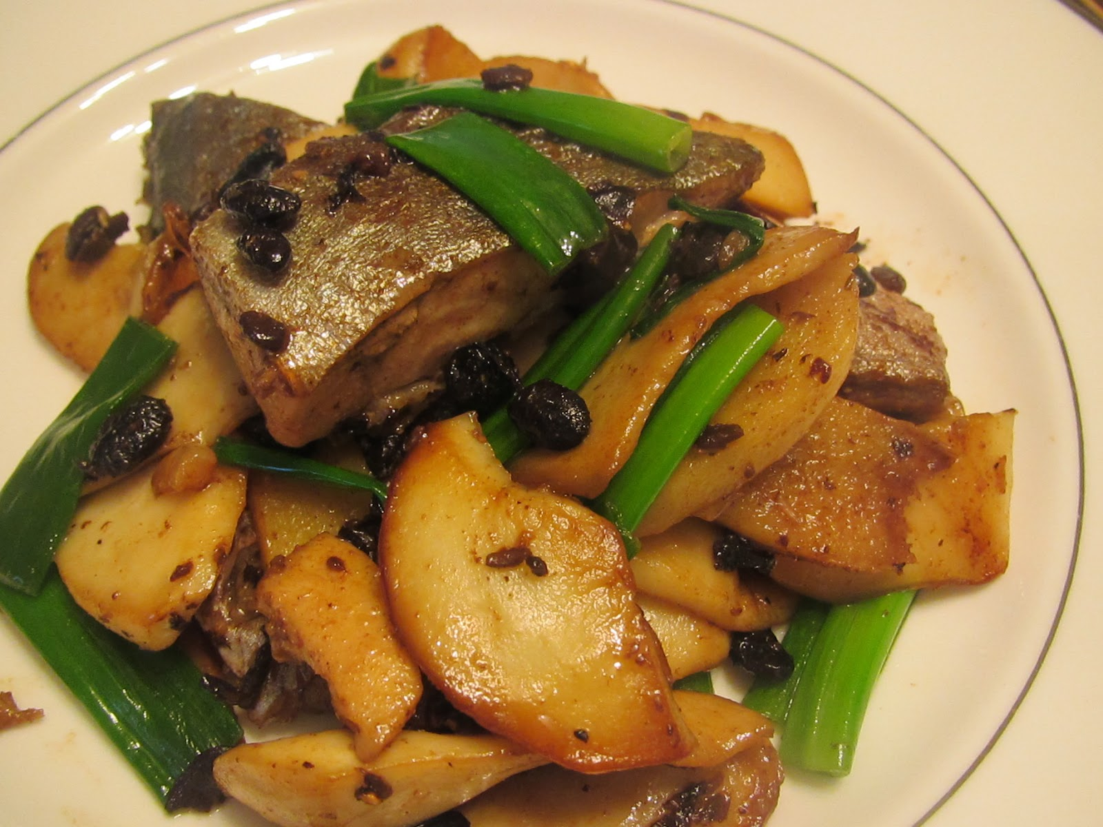 Stir Fry Oyster Mushroom and Fish