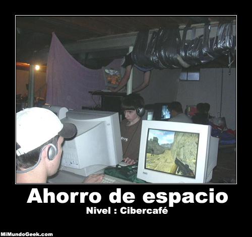 desmotivacion ahorro de espacio ciber cafe