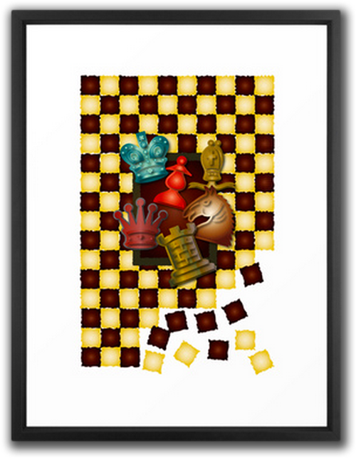 Chess Boxes Art Print