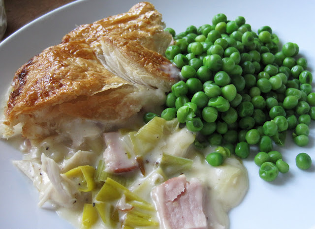 ... Oil : Jan's Chicken, Leek and Ham Pie in a Cheese and White Wine Sauce