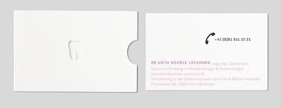 dentist's business card