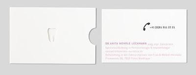 dentist's business card