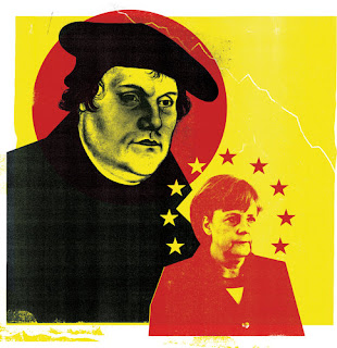 Martin Luther and frau Merkel
